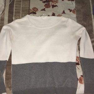 A long sleeve sweat shirt